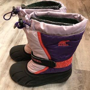 Sorel Girls Purple & Pink Snow Boots Size 2